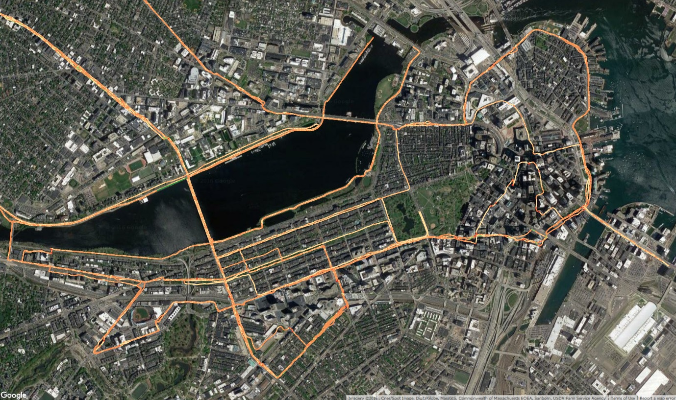 2016 Boston Runs, Visualized by Speed